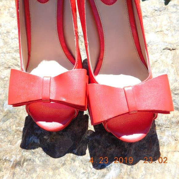 1b451b9e51 Studio Paolo Shoes | Studio Paola Peep Toe Pump Coral | Poshmark